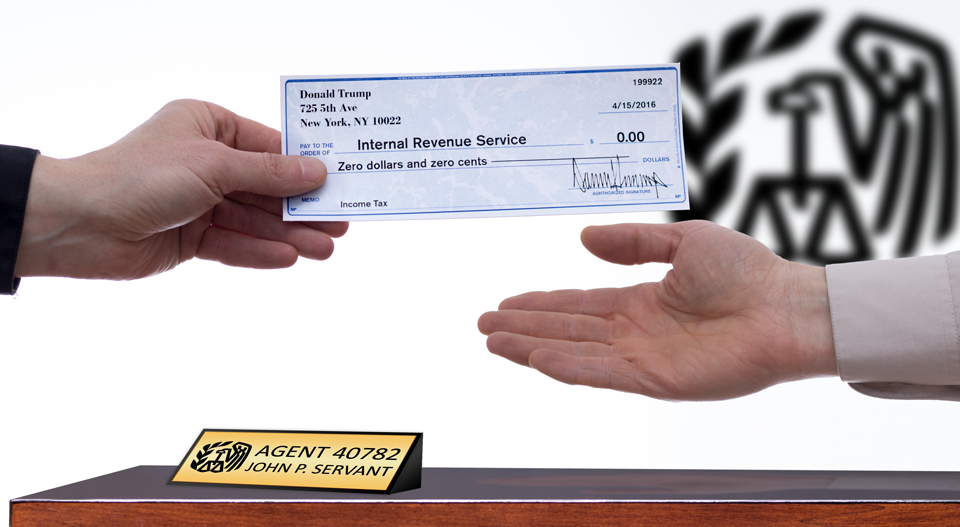 Handing Tax Check Over